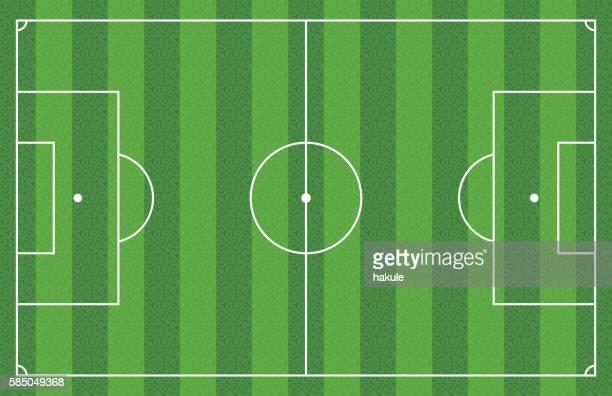 stockillustraties, clipart, cartoons en iconen met grass football soccer field, vector illustration - werper