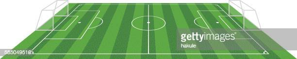 grass football soccer field, vector illustration