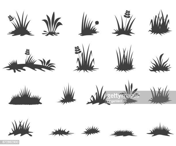 grass icons - grass stock illustrations, clip art, cartoons, & icons