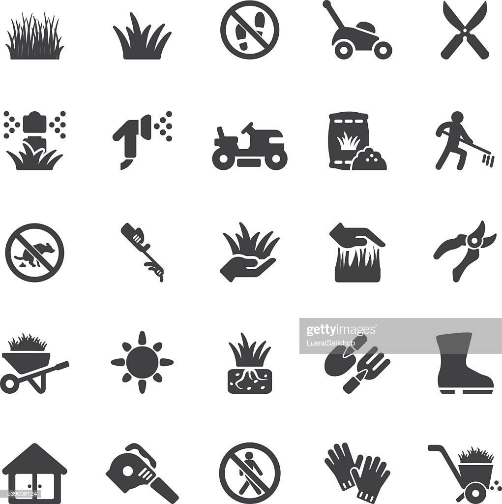 Grass Silhouette icons | EPS10 : stock illustration