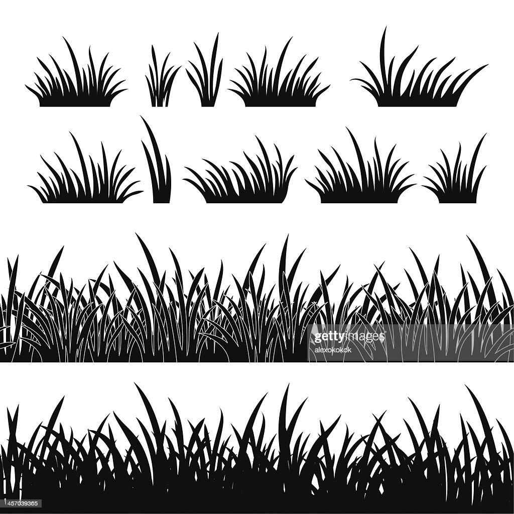 Grass silhouette, seamless