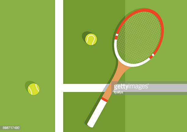 grass tennis court - tennis stock illustrations
