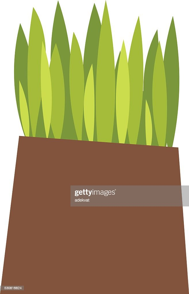 Grass with earth vector illustration