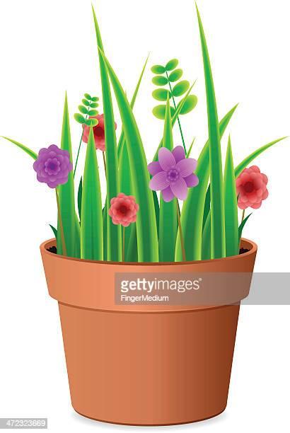観葉植物が窓辺に並んでいる 無料背景イラスト 素材good