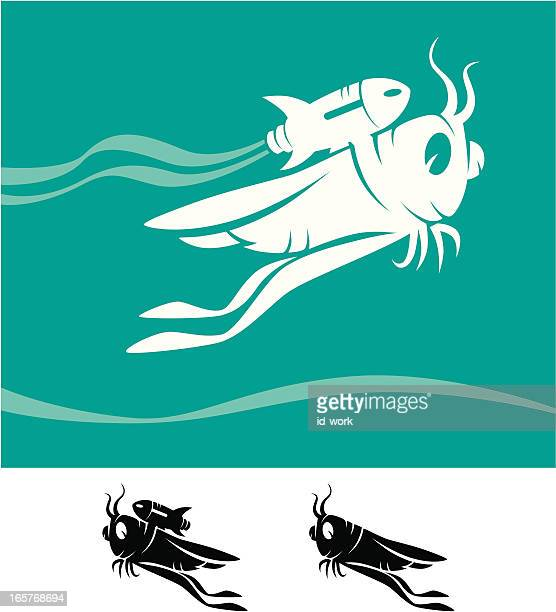 grasshopper with jet pack