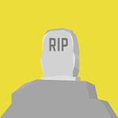 Grave flat icon. vector