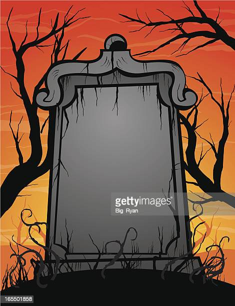 grave stone - rest in peace stock illustrations
