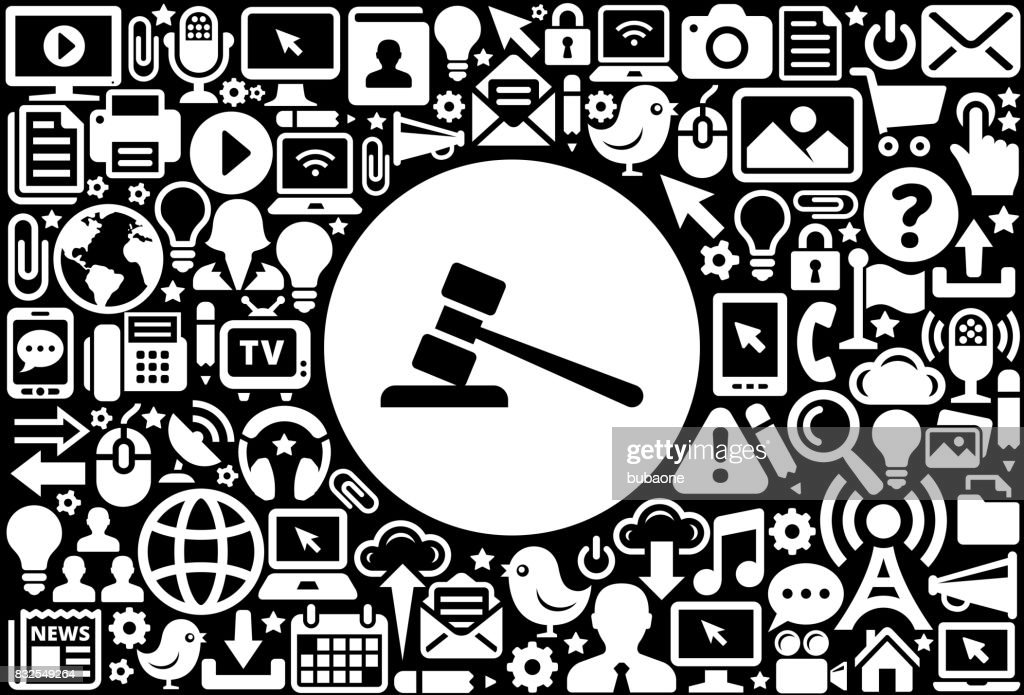 Gravel Icon Black and White Internet Technology Background