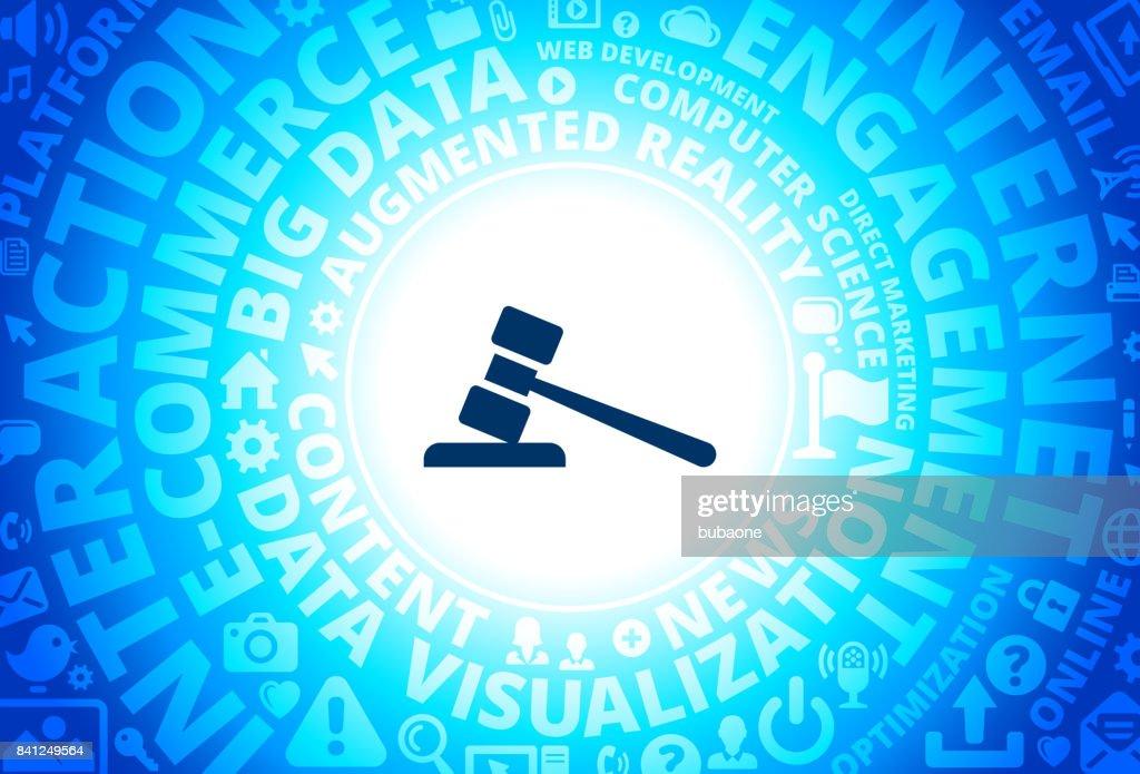 Gravel Icon on Internet Modern Technology Words Background