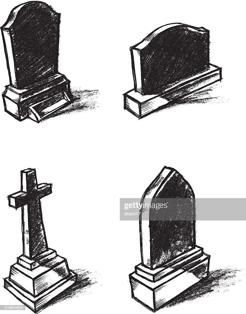 Gravestone Sketch Set