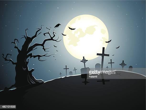graveyard - grave stock illustrations, clip art, cartoons, & icons