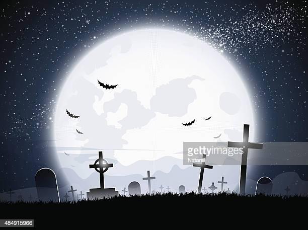 graveyard - tombstone stock illustrations