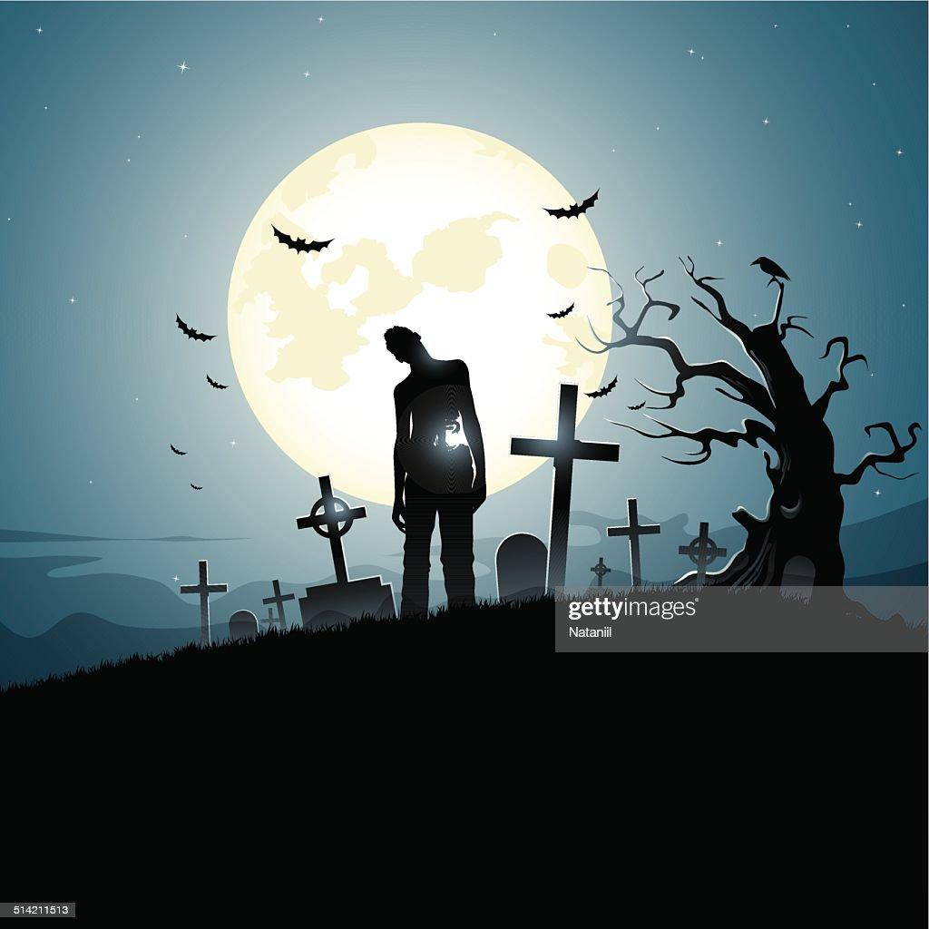 Graveyard : stock illustration