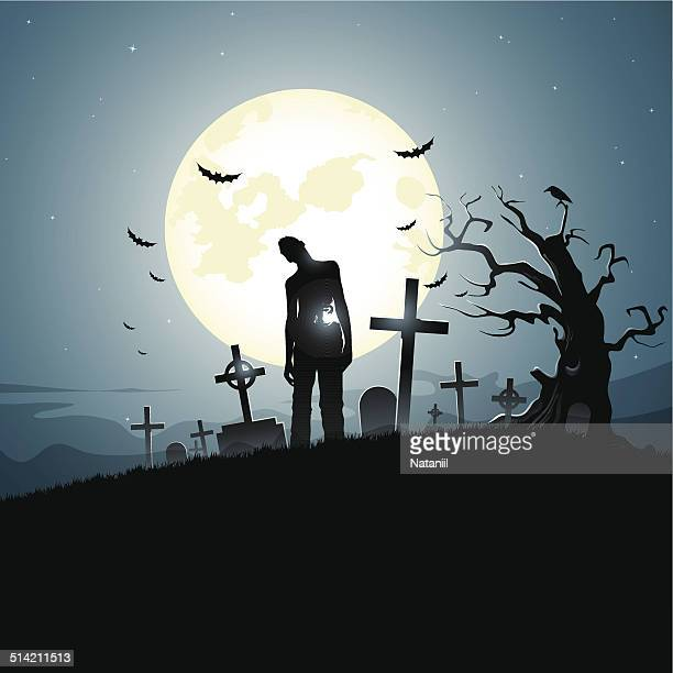 graveyard - zombie stock illustrations, clip art, cartoons, & icons