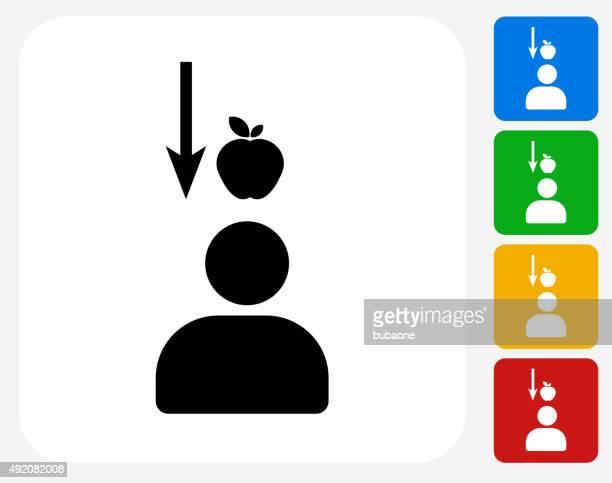 gravity apple icon flat graphic design - gravitational field stock illustrations
