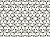 Gray Abstract Star and Arrow Shape Seamless Pattern