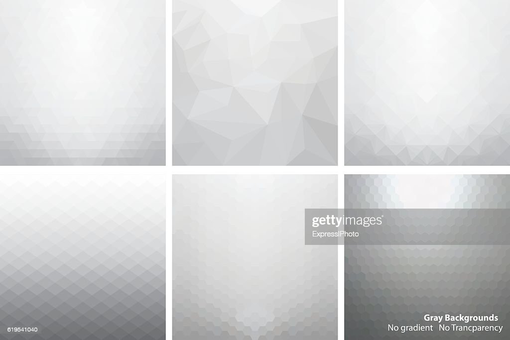 Gray abstract vector backgrounds.