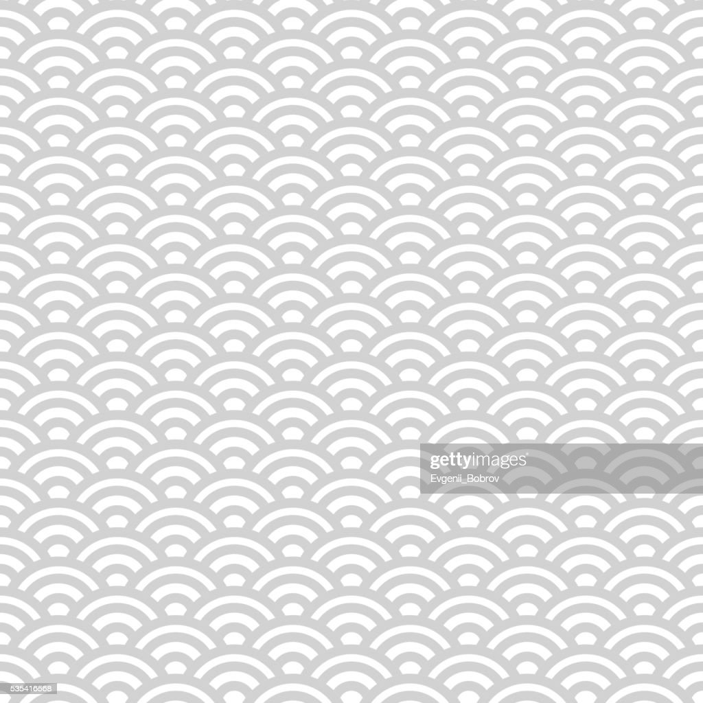 Gray and white japanese seamless pattern