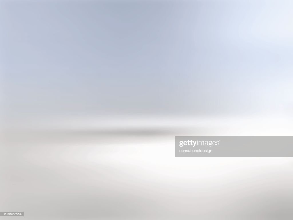 Gray background horizon with gradient to blue