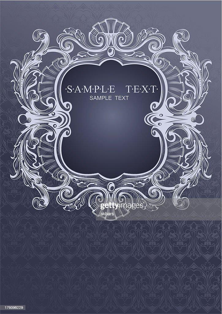 Gray Blue High Ornate Cover