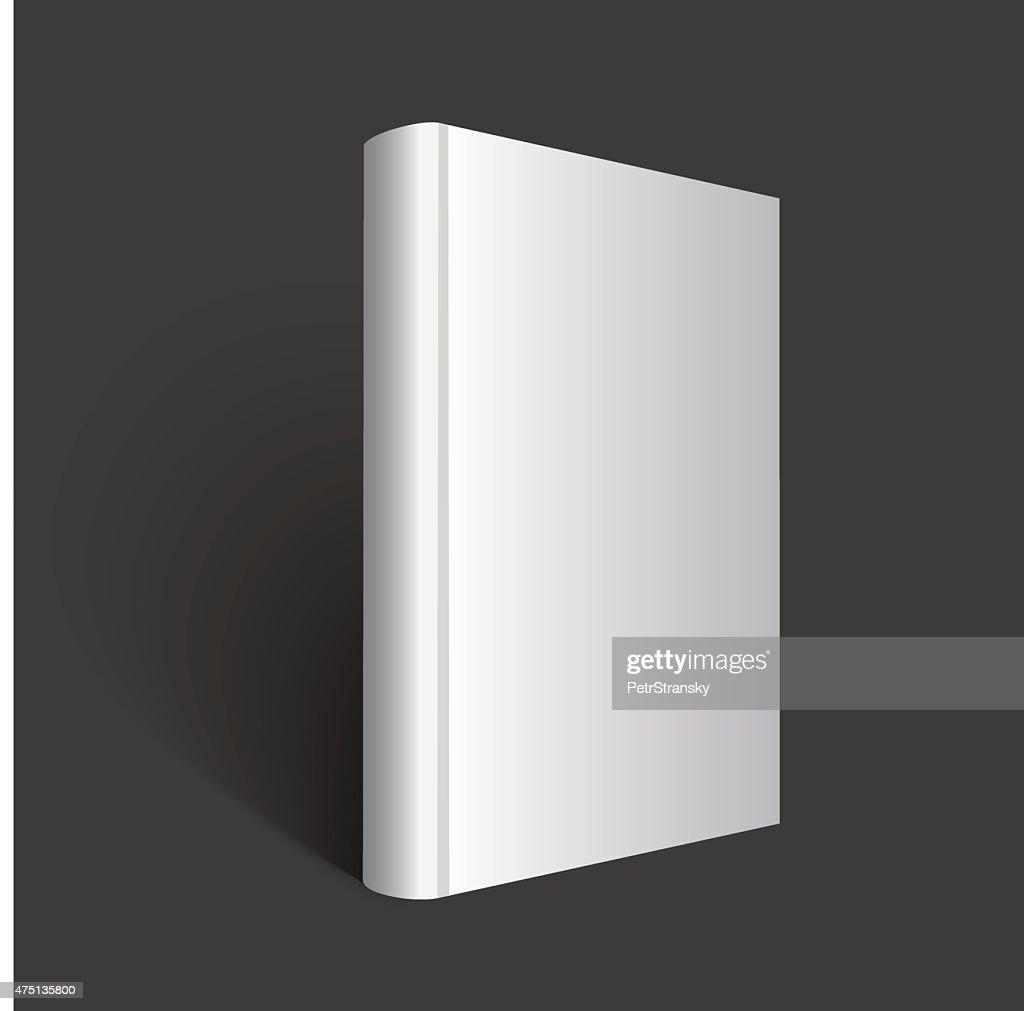 gray book illustration on dark background