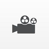 Gray Camera icon isolated on background. Modern flat pictogram, business, marketing, internet concep