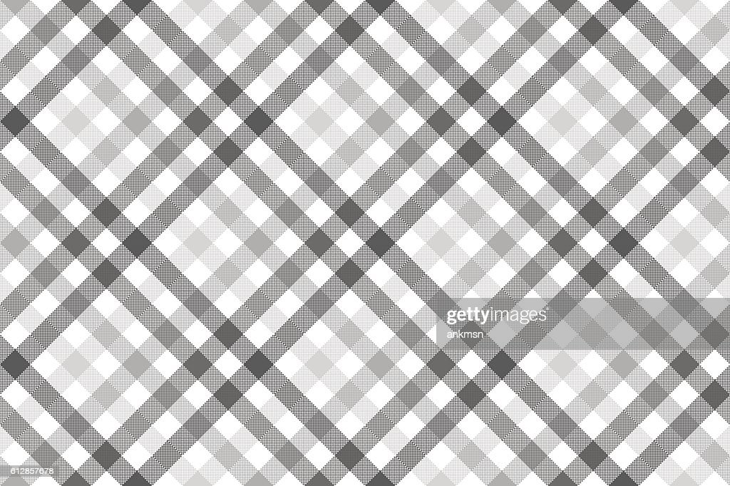 Gray diagonal check seamless pattern