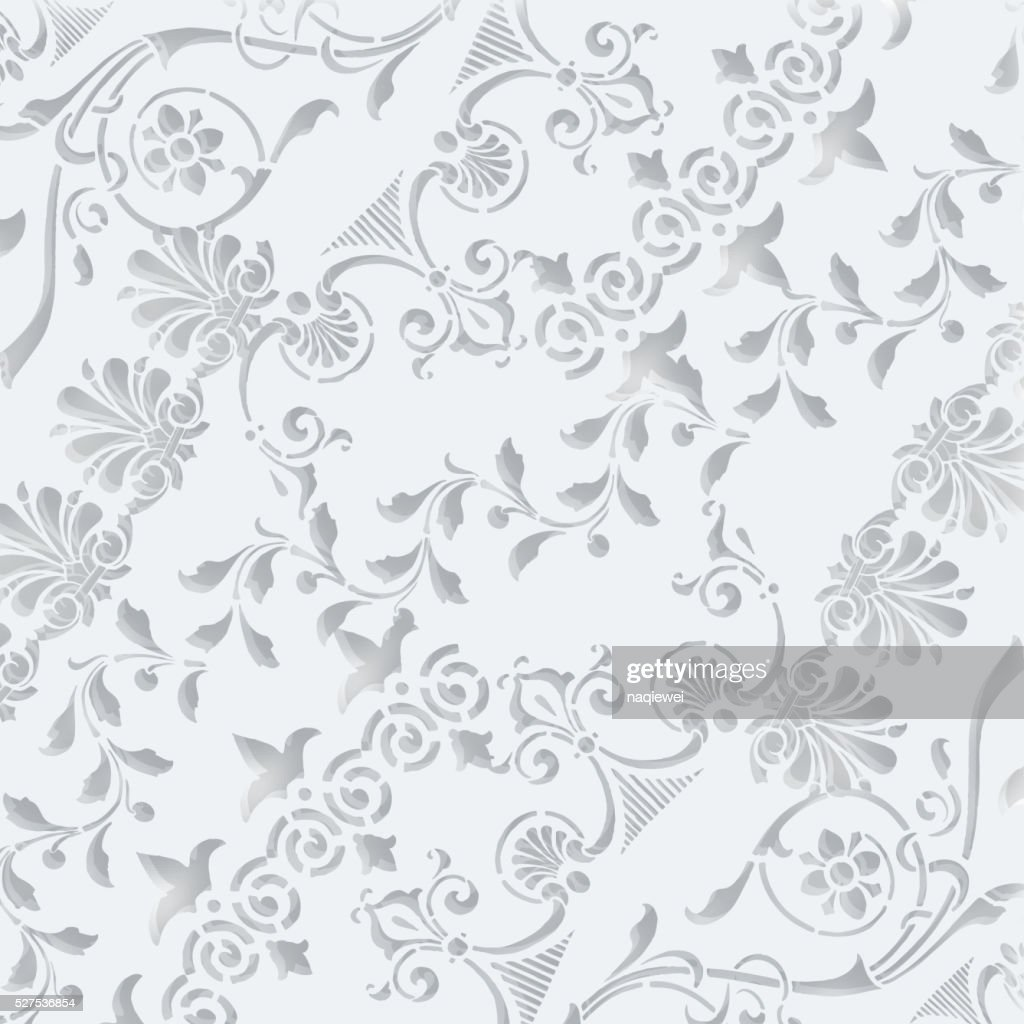 3D gray floral pattern background