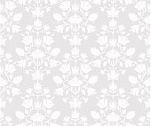 Gray floral seamless background.