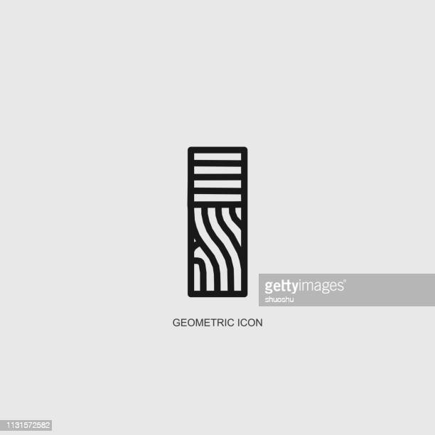 gray geometric line structure pattern - logo stock illustrations