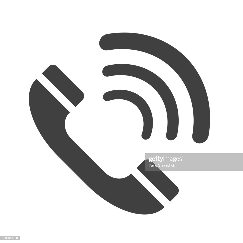 Gray handset icons - stock vector