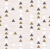 Gray hipster geometrical seamless vector pattern.