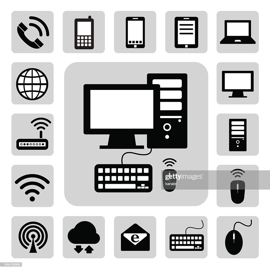 Gray icons depicting mobile devices and network icons