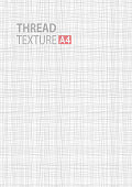 Gray line thread fabric pattern texture. A4 vector size background