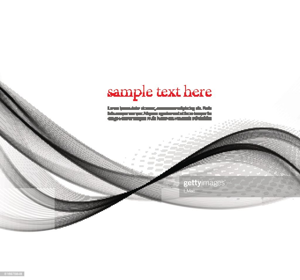 Gray lines abstract smooth background wave business layout template