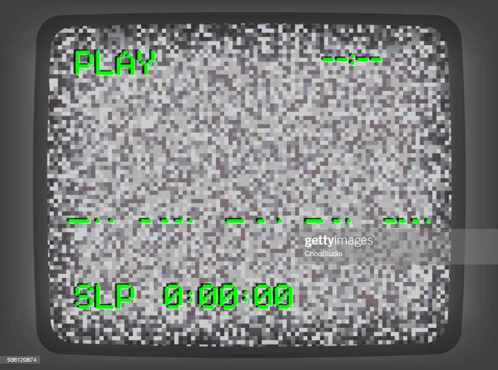 VHS gray Screen Intro