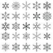 Gray Snowflakes White Background