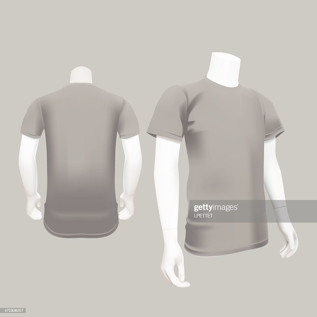 Gray Tshirt Template Vector Illustration Art Getty Images