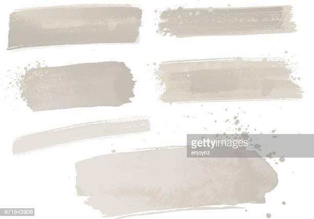 grauer aquarellfarbe striche - grau stock-grafiken, -clipart, -cartoons und -symbole