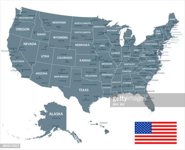30 - アメリカ合衆国 - グレースケール分離 10 - アメリカ大西洋岸中部点のイラスト素材/クリップアート素材/マンガ素材/アイコン素材