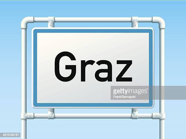 Graz, Österreich City Road Sign