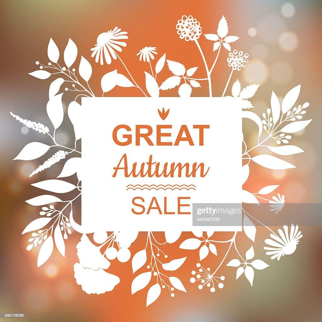 Great Autumn Sale Banner