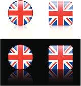 Great Britain Flag Button Set