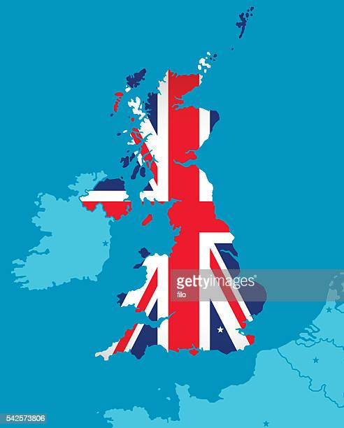 illustrations, cliparts, dessins animés et icônes de drapeau de la grande-bretagne la carte - brexit