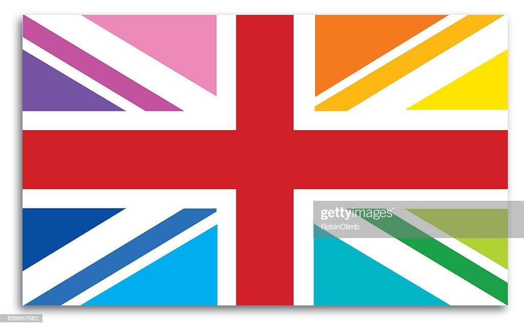 Great Britain Flag Map : stock illustration