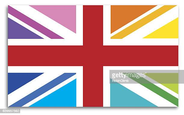 Great Britain Flag Map