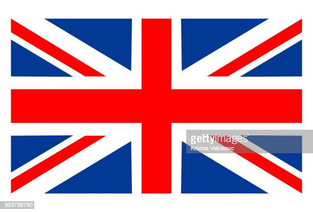 great britain flag - union jack stock illustrations