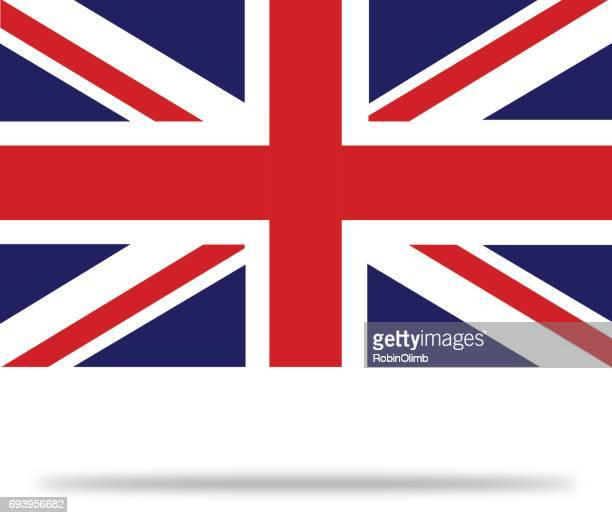 great britain flag with shadows - union jack stock illustrations