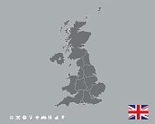 Great Britain Map Template