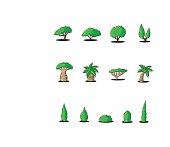 Great designed cartoon trees